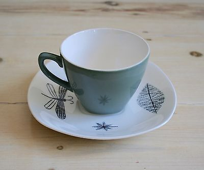Midwinter Stylecraft Fashion Terence Conran Nature Study Celadon Cup And Saucer