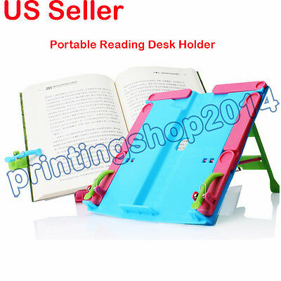 Portable Book Document Stand Reading Desk Holder Bookstand Plastic Gift