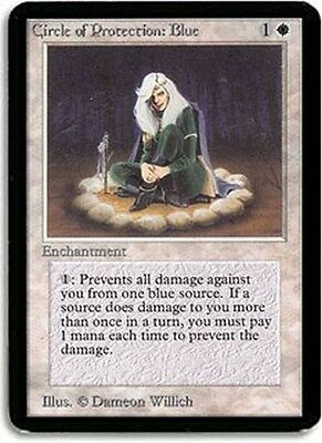 Circle of Protection: Blue MTG MAGIC Alpha English EXCELLENT