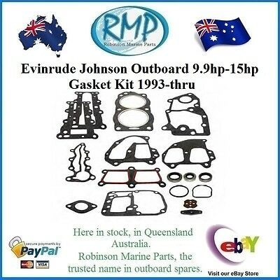 A Brand New Evinrude Johnson Outboard 9.9hp-15hp Gasket Kit 1993-thru # 436358