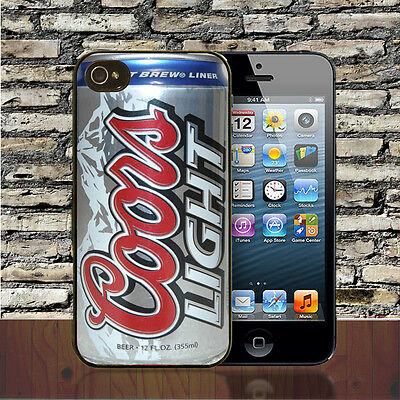 Coors Light Beer Can IPhone Hard Case X SE 4/4S 5/5S 5C