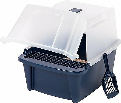 """IRIS CLH Hooded Litter Box w Scoop and Cleaning Grate 15"""" W x 18 7/8"""" (CLH-15S)"""
