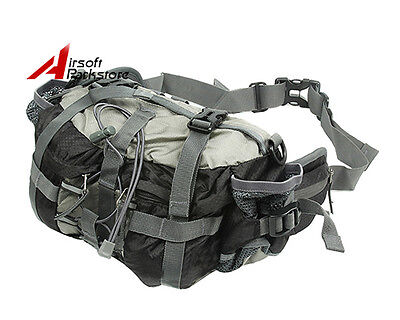 Tactical Military Shoulder Waist Fanny Pack Pouch Camping Hiking Outdoor Bag BK