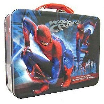 1810fc8e8e1a SPIDER-MAN WALL CRAWLER Metal Boys Tin Lunch Box