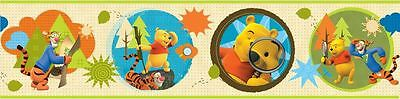 Winnie The Pooh Mftp Wallpaper Border Self Adhesive (62494) Childrens Bedroom