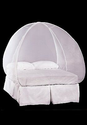 Pyramid Mosinet Mosquito Net White Pop Up Frame Free-Standing Single or Double