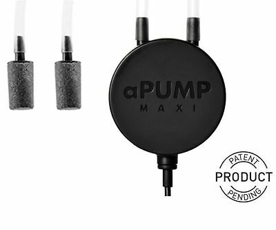 Aquarium Air Pump aPUMP MAXI Worlds Most Silent Fish Tank up to 200L