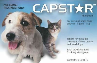 Capstar Flea Treatment Tablets for Cats and Small Dogs - 11mg x 6 Pack