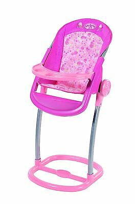 New Zapf Creation Baby Annabell Pink High Chair For Dolls Toy