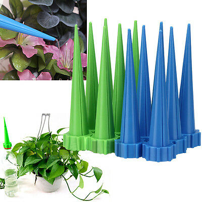 12pcs Automatic Cone Watering Spike Garden Flower Plant Water Bottle Irrigation