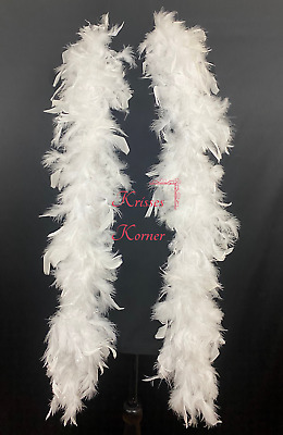 WHITE Feather Boas Wholesale Chandelle 6 Feet 60 grams Best Price on eBay