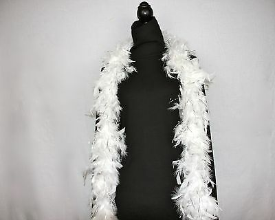 WHITE w/SILVER TINSEL Feather Boas Chandelle 6 Feet 60 grams Best Price on eBay