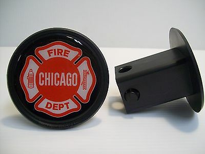 Chicago Fire Department Hitch Cover Maltese