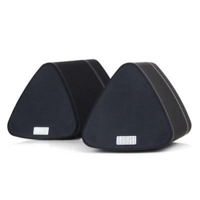 Bluetooth Speaker Set by August - Dual Speakers for Smartphones/Tablets/Laptops