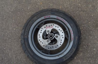 peugeot vivacity viva city 50 100 front wheel with tyre and brake disc ,vgc