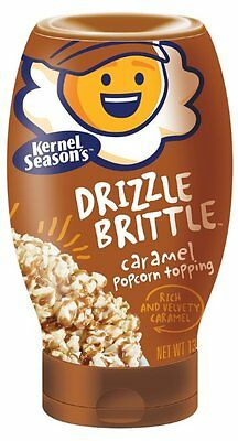 Kernel Season's Drizzle Brittle Popcorn Topping, Caramel, 13.1 OZ