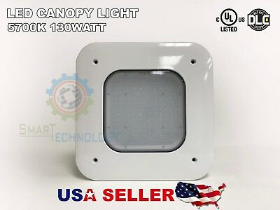 Canopy 130W LED LightS Drop Lens Gas Station with Mounting UL/DLC 130 W 10 Year