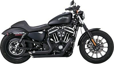 new vance and hines Shortshots Staggered Exhaust System Black 47229