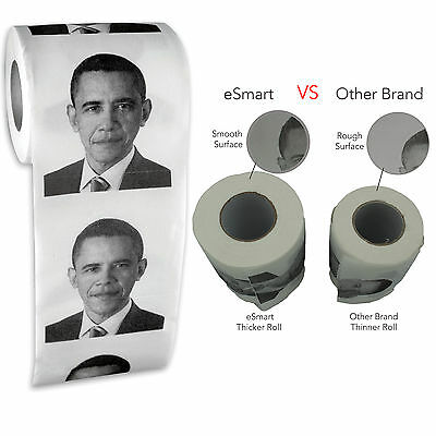 Obama Toilet Paper Roll Restroom Tissue Party Prank Joke President Best Quality