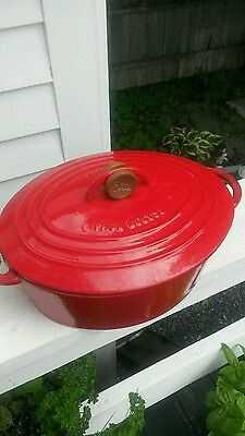 Nomar Paul Bocuse Cast Iron  Red Dutch Oven with Top