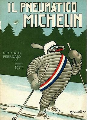 Vintage 1911 Michelin Tyre  Advertisement Poster  A3 Print