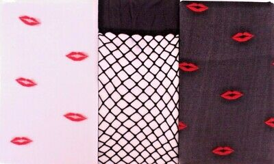 1 Size Fits All Fishnet / Lips Stockings Thigh High Pantyhose Party Costume XXX