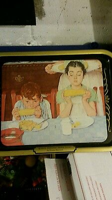 "Norman Rockwell Tray ""Who's having More Fun"""