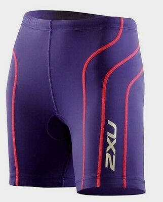 2XU Womens Active Tri Compression Shorts - Purple/Pink NWT Size Large