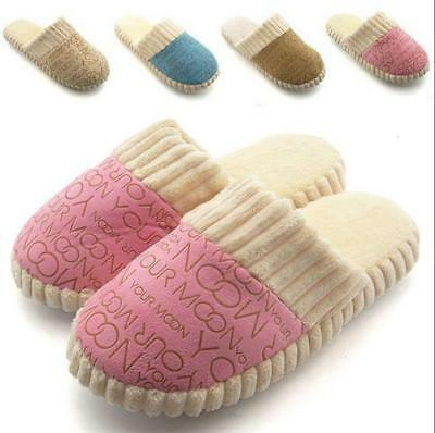 Women Slipper Flip Flops Warm Soft Home Slippers Autumn Winter Indoor Shoes - 6A