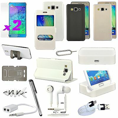 13 x Accessory Leather Case Charger Screen Touch Pen Cable For Samsung Galaxy A3