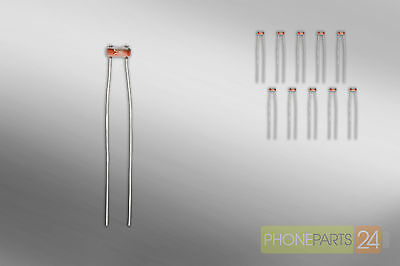 10x Fotowiderstand 5mm GL5516 Photo Resistor