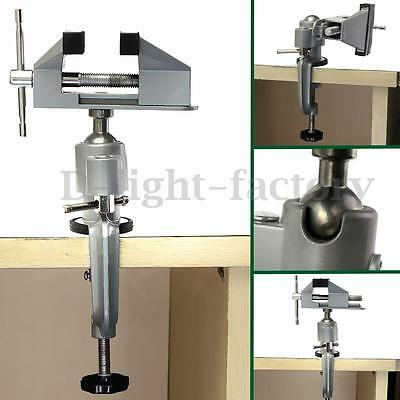 360°Universal Bench Vise Swivel Tabletop Clamp Vice Tilts Rotates Aluminum Alloy