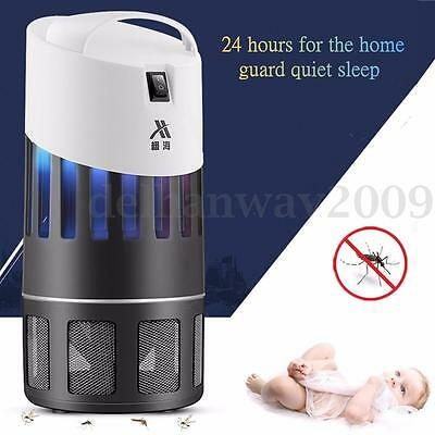 Electric LED Light Mosquito Killer Fly Bug Insect Moth Zapper Trap Catcher Lamp