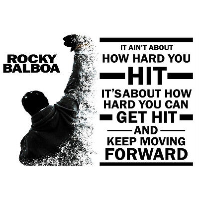 Art print F-27 2018 Rocky Balboa Classic Motivational Quotes 24x36 Silk Poster