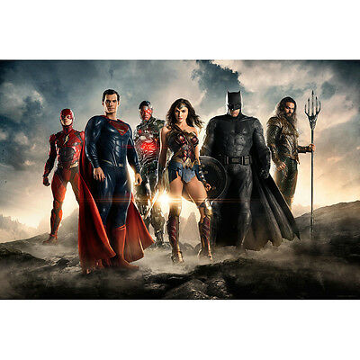 Batman Wonder Woman - Justice League DC Superheroes Movie Art Silk Poster