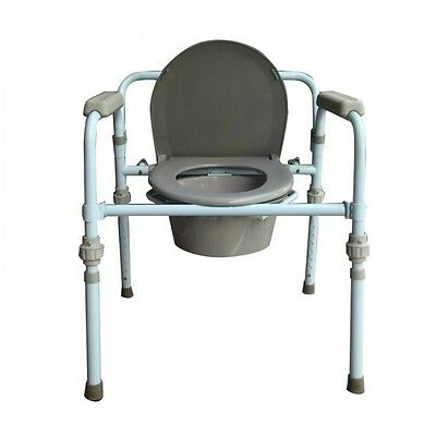 Folding Bedside Commode Seat Chair Bathroom Toilet Portable Safety Potty Chair