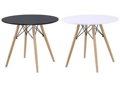 Charles Ray Eames Eiffel Inspired Dining Living Room Office Round Table 60/80 CM