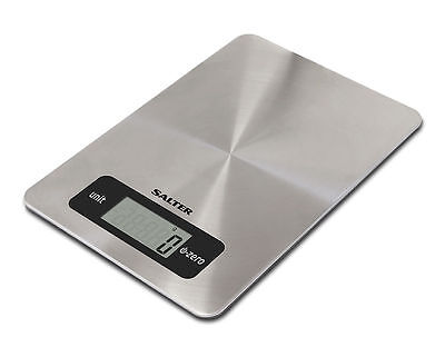Salter 5kg Stainless Steel Aquatronic Electronic Digital Kitchen Scales