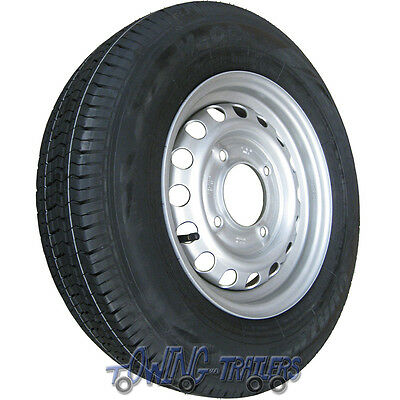 "165R13C 8ply 96/94N trailer tyre on 4 stud 5.5"" PCD wheel rim for Brianjames"