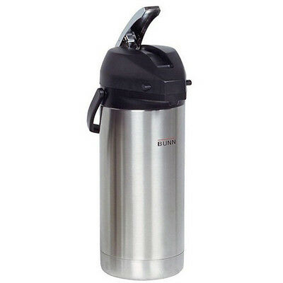 Stainless Steel 3 8 L Urn Airpot Carafe Easy Transport Pump Dispenser Hot Coffee