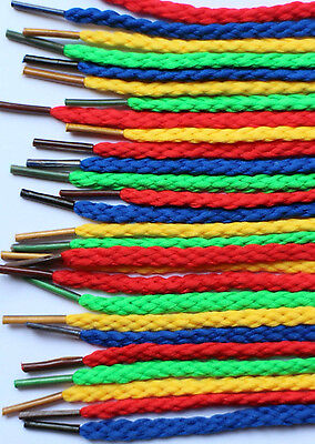 40 Threading Laces Brightly colored each 3mm diameter x 75cm 4 Colours CX7592