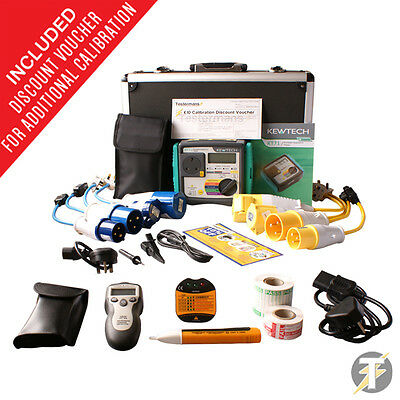 Kewtech KT71 PAT Tester KIT44 with Socket Tester, Accessories and Aluminium Case