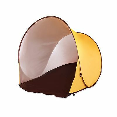 Large Yellow Beach Tent with UV protection with carry case & pegs SALE only £10
