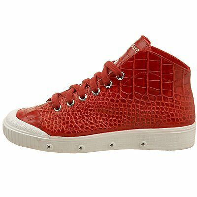 38 NEW SPRING COURT Women/'s B2 Red//White Croco Leather Sneakers Shoes US 7