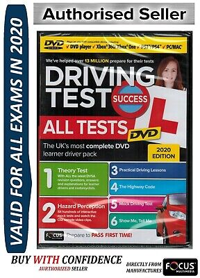Latest 2019 Driving Theory Test & Hazard CD Rom DVD Highway Code Rules New atDVD