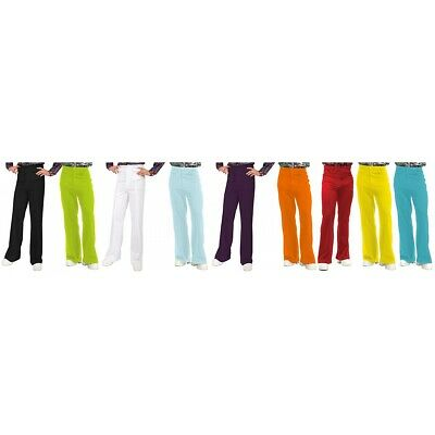 Disco Pants Mens Bell Bottoms Adult 70s Costume Halloween Fancy Dress
