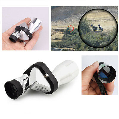 Mini Pocket 8x20 HD Corner Optical Monocular Telescope Eyepiece For Outdoor