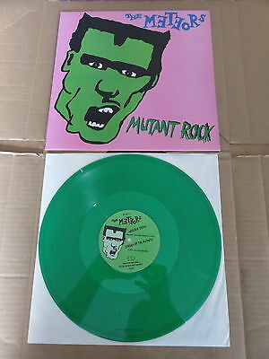 "THE METEORS Mutant Rock E.P. ID 12"" VERY RARE GREEN VINYL UK 1986 1ST PRESSING"