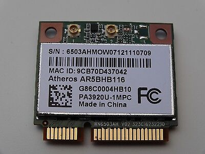 Atheros AR9382 AR5BHB116 Mini PCIE Dual Band WiFi Wireless WLAN Card 2T2R - W004