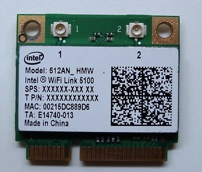 INTEL WiFi Link 5100AGN Half PCIE Dual Band Wireless WiFi Card 512AN_HMW - W038